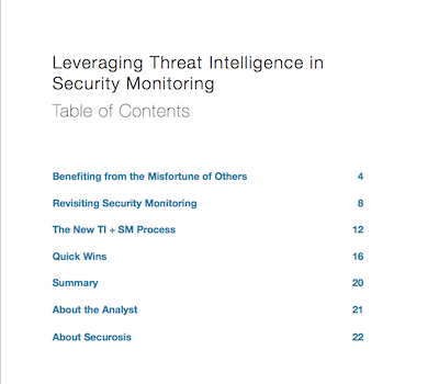 Leveraging Threat Intelligence in Security Monitoring